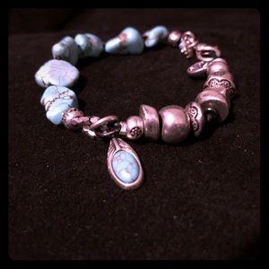 Lucky Brand Blue Stone Bracelet